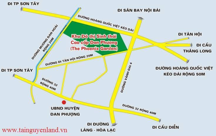 bản đồ hệ thống giao thông the phoenix garden